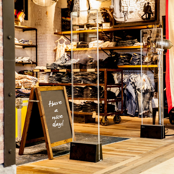 Fusion alarmbue i butikk forretning klesbutikk